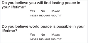 Is Peace Possible